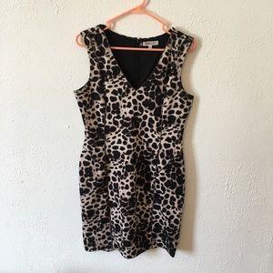 Jennifer Lopez leopard bodycon dress size 12